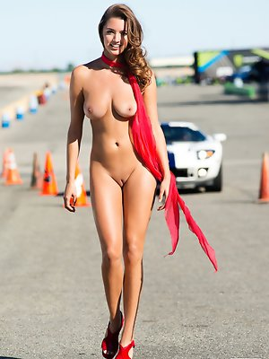 "Gentlemen, start your engines for Alyssa Arcè, our Miss July 2013. Part Hispanic – ""my father is Honduran,"" she says – with doe eyes, pouted"