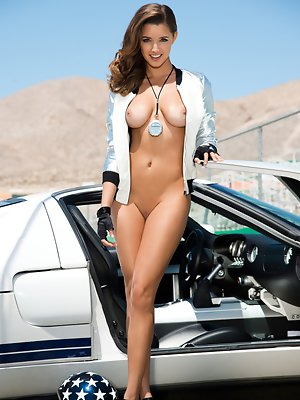 """Gentlemen, start your engines for Alyssa Arcè, our Miss July 2013. Part Hispanic – """"my father is Honduran,"""" she says – with doe eyes, pouted"""