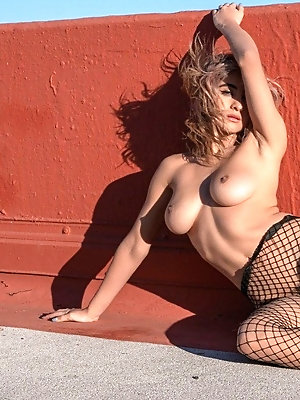 """Meet Amateur Stacey Kay, a waitress from Gilbert, Arizona. She's half Panamanian, with brown hair and eyes, a narrow waist and real curves. """"I'm"""